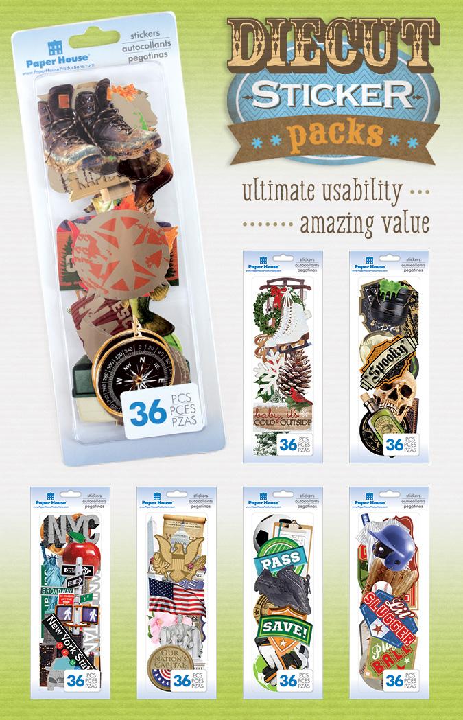 CHA 2015 Sneak Peek – Diecut Sticker Packs