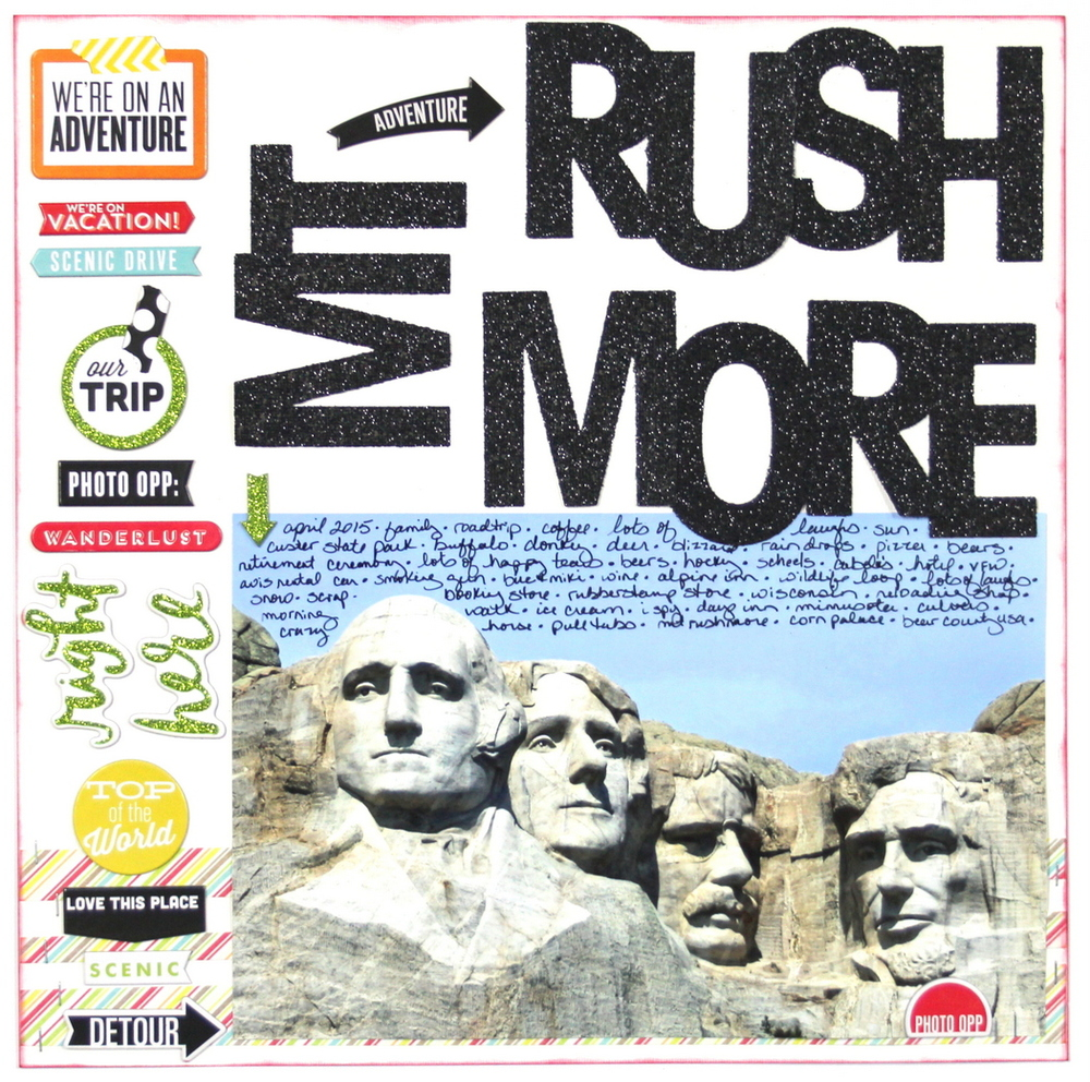 Scrapbook Page | Mt. Rushmore