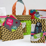 Off the Page With Chevron Kraft Bags!