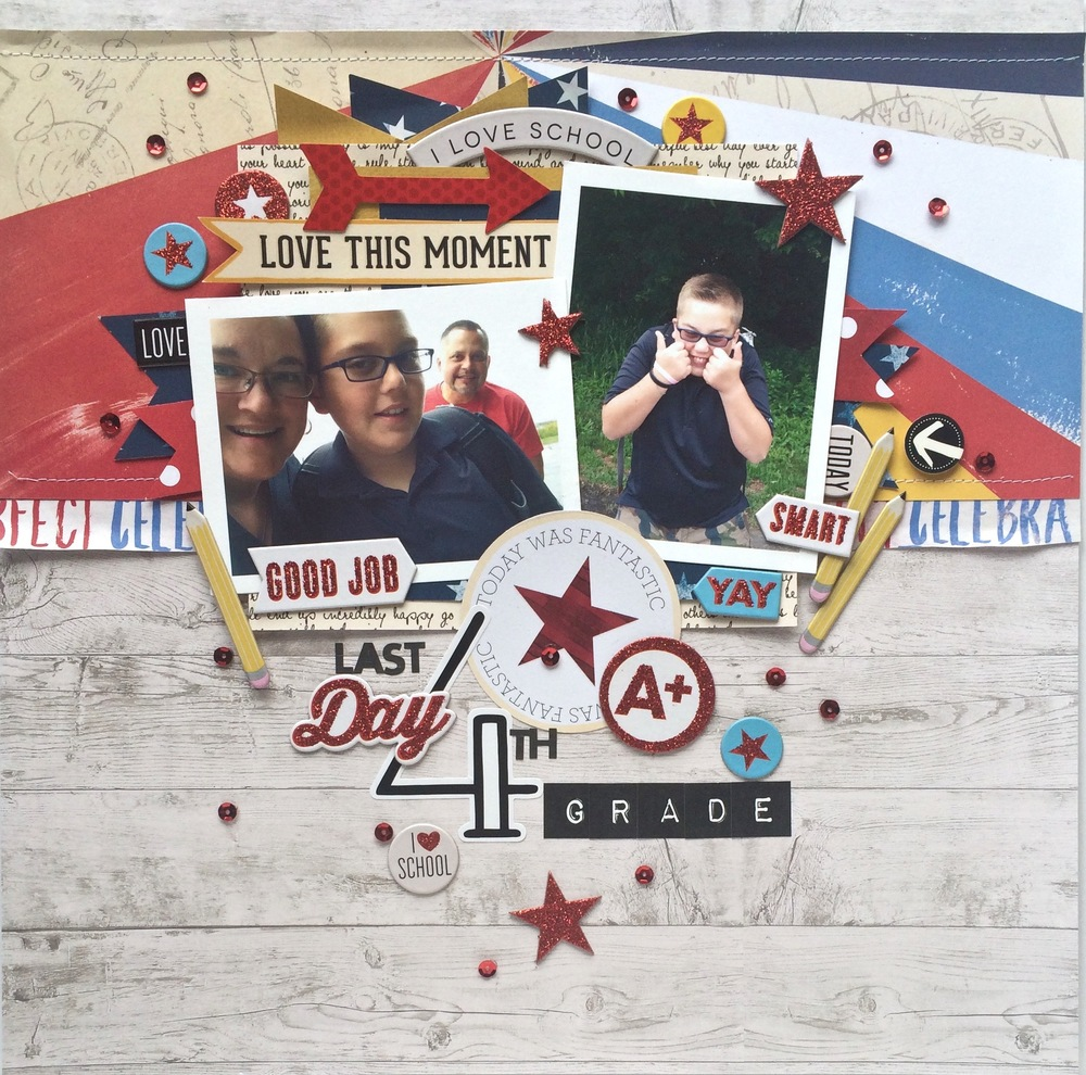 Scrapbook Page   'Last Day of 4th Grade'