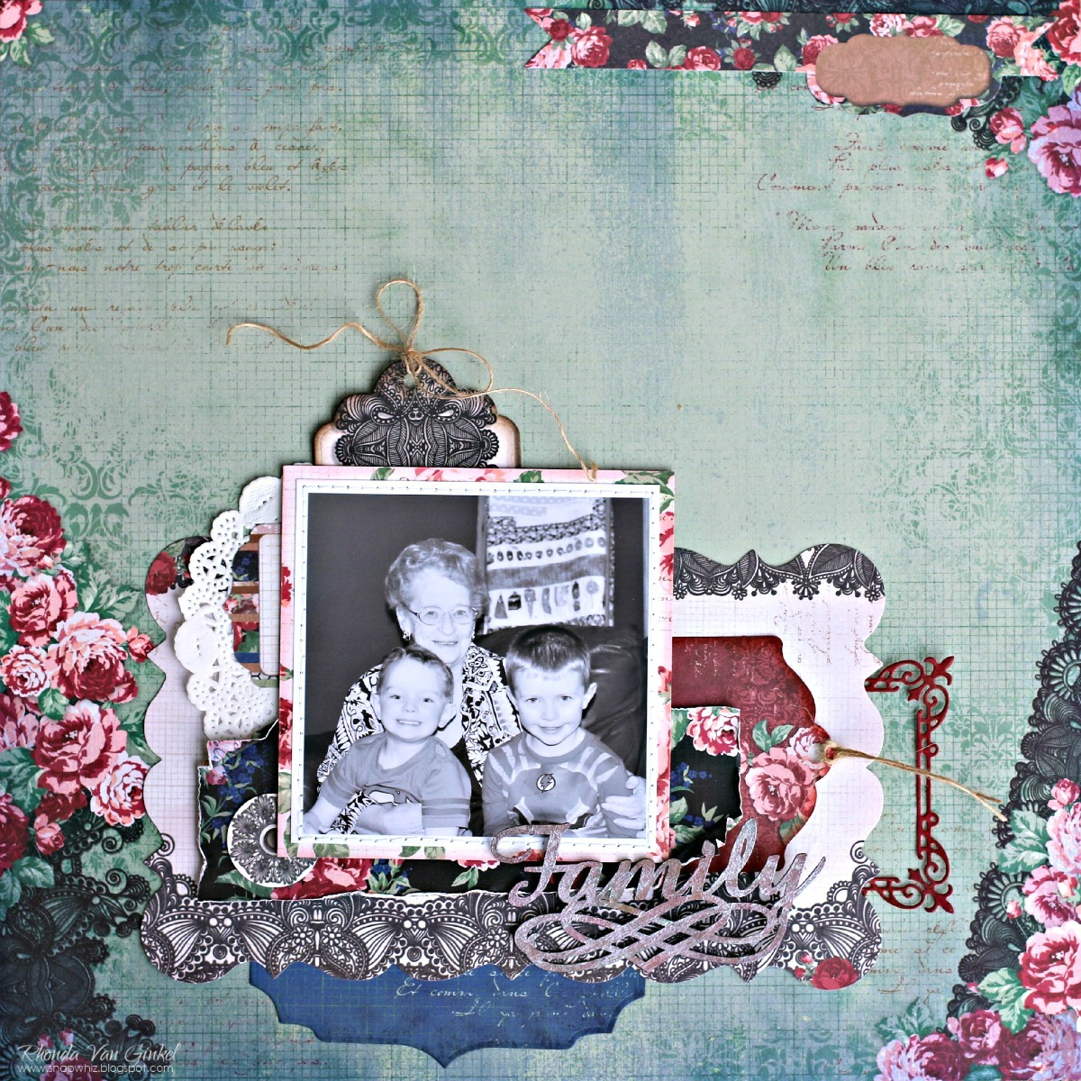 1 Layout 3 Ways With Love & Lace!