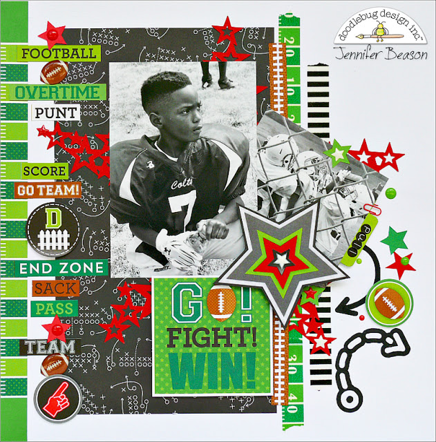 Touchdown Collection: Go Fight Win Layout by Jennifer Beason