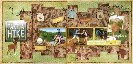 Take A Hike 2 Page Layout Kit!